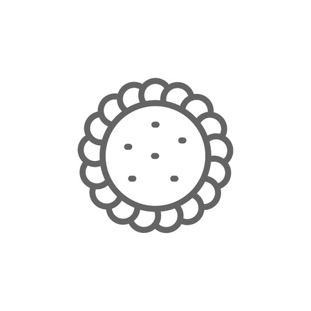 Portugal, egg tart icon. Element of Portugal icon. Thin line icon for website design and development, app development. Premium icon