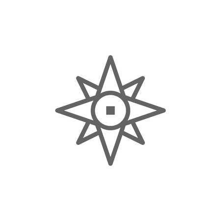 Portugal, compass icon. Element of Portugal icon. Thin line icon for website design and development, app development. Premium icon  イラスト・ベクター素材