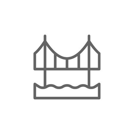 Portugal, Abril bridge icon. Element of Portugal icon. Thin line icon for website design and development, app development. Premium icon