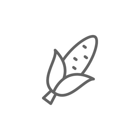 Portugal, corn icon. Element of Portugal icon. Thin line icon for website design and development, app development. Premium icon