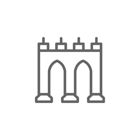 Portugal, Guas livres icon. Element of Portugal icon. Thin line icon for website design and development, app development. Premium icon