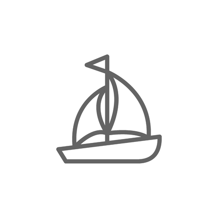 Portugal, sailboat icon. Element of Portugal icon. Thin line icon for website design and development, app development. Premium icon  イラスト・ベクター素材