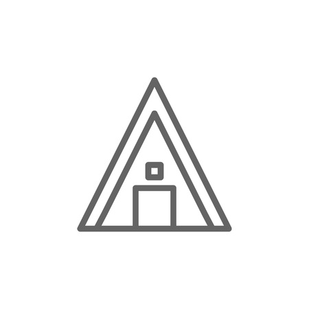 Portugal, camping icon. Element of Portugal icon. Thin line icon for website design and development, app development. Premium icon