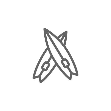 Surf, Portugal, beach icon. Element of Portugal icon. Thin line icon for website design and development, app development. Premium icon on white background