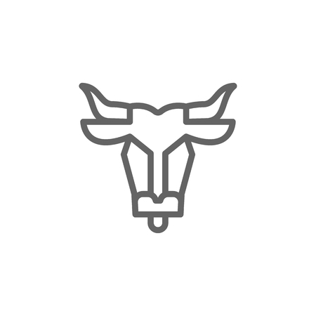 Bullfighting, Portugal icon. Element of Portugal icon. Thin line icon for website design and development, app development. Premium icon on white background