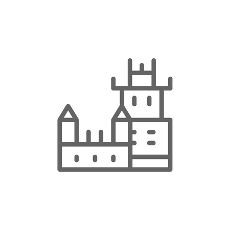 Belem, tower, Portugal icon. Element of Portugal icon. Thin line icon for website design and development, app development. Premium icon on white background  イラスト・ベクター素材