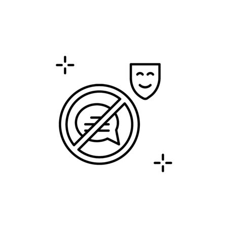 Quiet, silent icon. Simple line, outline vector elements of theatre for ui and ux, website or mobile application