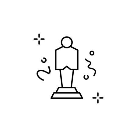 Trophy icon. Simple line, outline vector elements of theatre for ui and ux, website or mobile application Ilustração