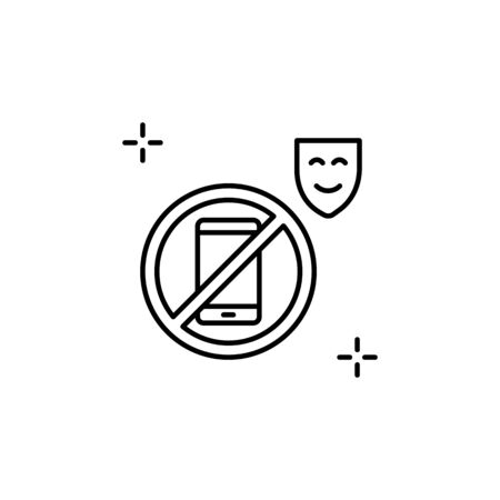 No phone icon. Simple line, outline vector elements of theatre for ui and ux, website or mobile application Ilustração
