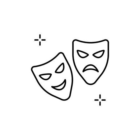 Mask icon. Simple line, outline vector elements of theatre for ui and ux, website or mobile application Ilustração