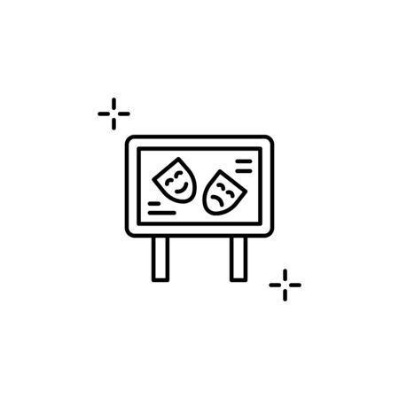 Sign icon. Simple line, outline vector elements of theatre for ui and ux, website or mobile application