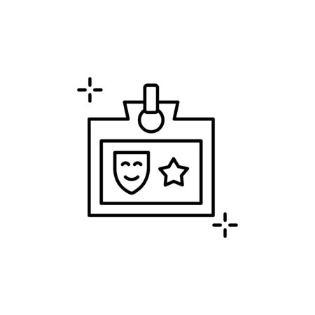 Id card icon. Simple line, outline vector elements of theatre for ui and ux, website or mobile application