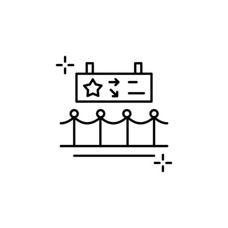 Barrier icon. Simple line, outline vector elements of theatre for ui and ux, website or mobile application