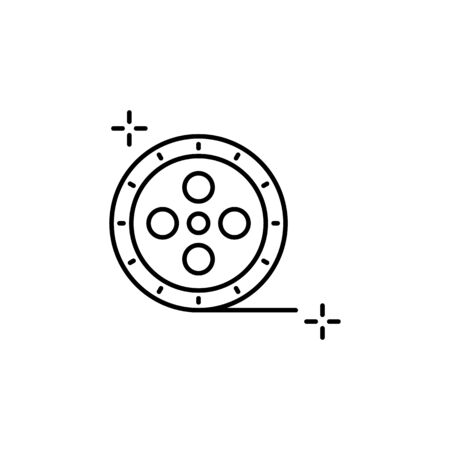 Film reel icon. Simple line, outline vector elements of theatre for ui and ux, website or mobile application