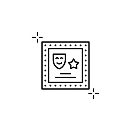 Mirror icon. Simple line, outline vector elements of theatre for ui and ux, website or mobile application