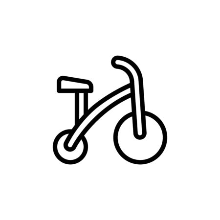 Tricycle icon. Simple line, outline vector elements of Children's day icons for ui and ux, website or mobile application on white background