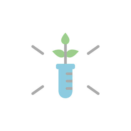 Flask, grass icon. Simple color vector elements of automated farming icons for ui and ux, website or mobile application on white background