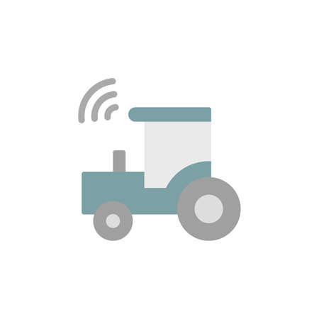 Construction, tractor, farm icon. Simple color vector elements of automated farming icons for ui and ux, website or mobile application on white background Ilustracja