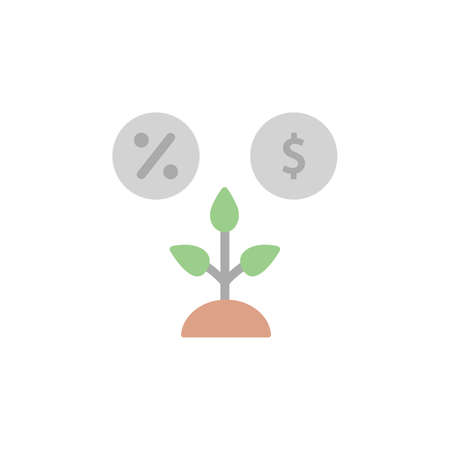 Productivity, per cent, dollar icon. Simple color vector elements of automated farming icons for ui and ux, website or mobile application