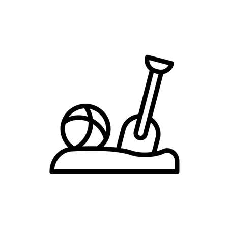 Ball, sand, shovel icon. Simple line, outline vector elements of vacation icons for ui and ux, website or mobile application