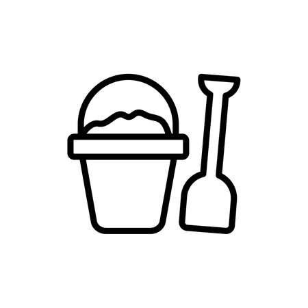 Sand, shovel, basket icon. Simple line, outline vector elements of vacation icons for ui and ux, website or mobile application