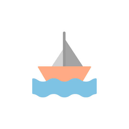 Boat, sea, summer icon. Simple color vector elements of vacation icons for ui and ux, website or mobile application 向量圖像