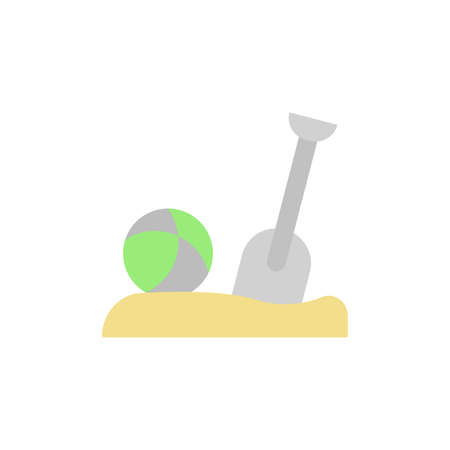 Ball, sand, shovel icon. Simple color vector elements of vacation icons for ui and ux, website or mobile application Ilustração