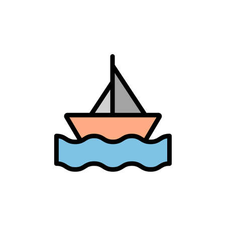 Boat, sea, summer icon. Simple color with outline vector elements of vacation icons for ui and ux, website or mobile application 向量圖像