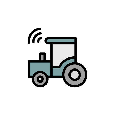 Construction, tractor, farm icon. Simple color with outline vector elements of automated farming icons for ui and ux, website or mobile application