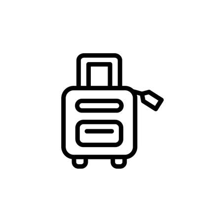 Suitcase, summer icon. Simple line, outline vector elements of vacation icons for ui and ux, website or mobile application