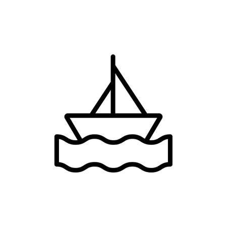 Boat, sea, summer icon. Simple line, outline vector elements of vacation icons for ui and ux, website or mobile application 向量圖像
