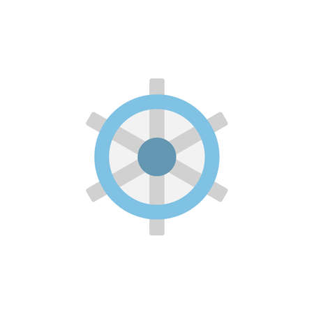 Ship steering wheel icon. Simple color vector elements of vacation icons for ui and ux, website or mobile application