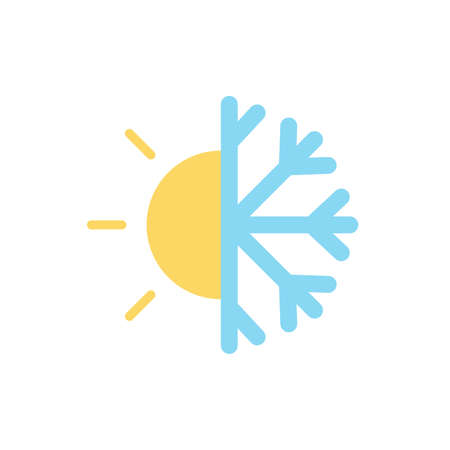 Cloud, sun, snowflake icon. Simple color vector elements of forecast icons for ui and ux, website or mobile application