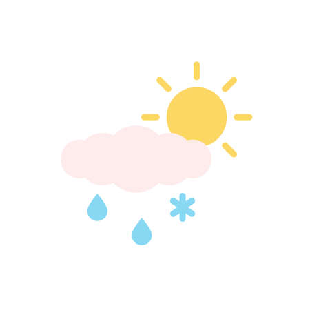 Cloud, rain, snow, sun icon. Simple color vector elements of forecast icons for ui and ux, website or mobile application