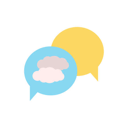Cloud, chat icon. Simple color vector elements of forecast icons for ui and ux, website or mobile application Vettoriali