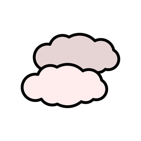 Weather, cloud icon. Simple color with outline vector elements of forecast icons for ui and ux, website or mobile application
