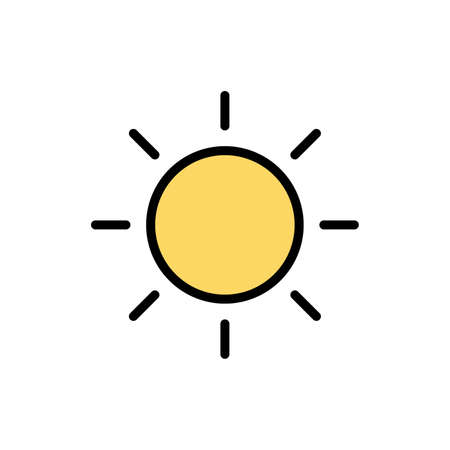 Weather, sun icon. Simple color with outline vector elements of forecast icons for ui and ux, website or mobile application Vettoriali