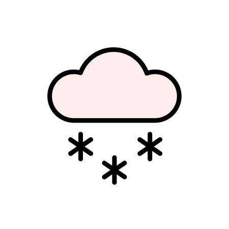 Cloud, snow icon. Simple color with outline vector elements of forecast icons for ui and ux, website or mobile application Vettoriali