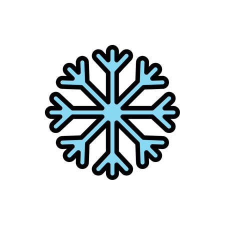 Snowflake, snow icon. Simple color with outline vector elements of forecast icons for ui and ux, website or mobile application Vettoriali