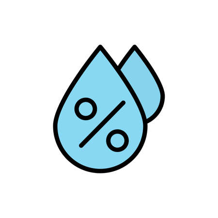 Drop, humidity icon. Simple color with outline vector elements of forecast icons for ui and ux, website or mobile application Vettoriali