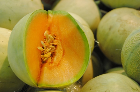 Tuscan melon at Mercato Centrale market in Florence.