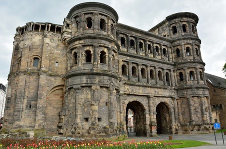 2nd-century Roman city gate Porta Nigra in Trier, Germany.
