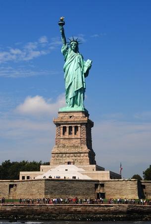 Statue of Liberty enlightening the world.