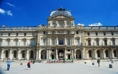 museum visit: Pavillon Sully building of Louvre Museum in Paris Editorial