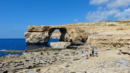 View of the Azure Window in Malta