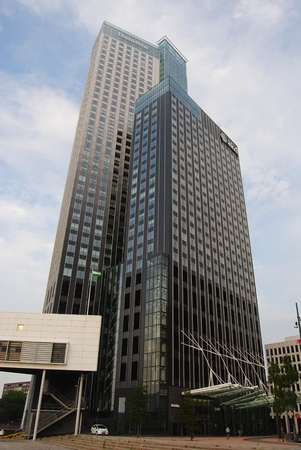 MaasToren in Rotterdam is the tallest building in The Netherlands.