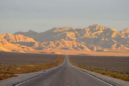 Extraterrestrial Highway (Nevada State Route 375) in Sand Spring Valley, Nevada.