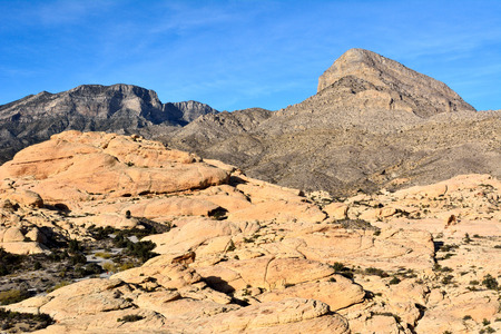 Scenery in Red Rock Canyon national conservation area in Nevada, USA.