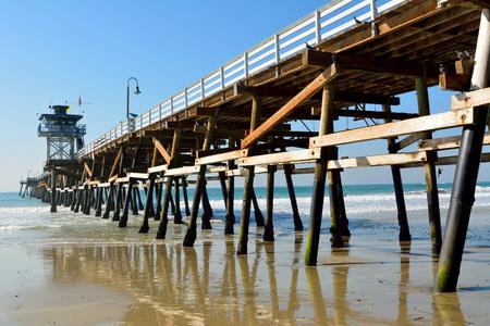 Wooden pier in San Clemente, California.