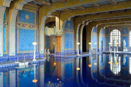 San Simeon, California, United States of America - November 27, 2017. Indoor pool at the Hearst Castle in San Simeon, CA.